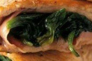 Σνίτσελ γαλοπούλας γεμιστά με σπανάκι