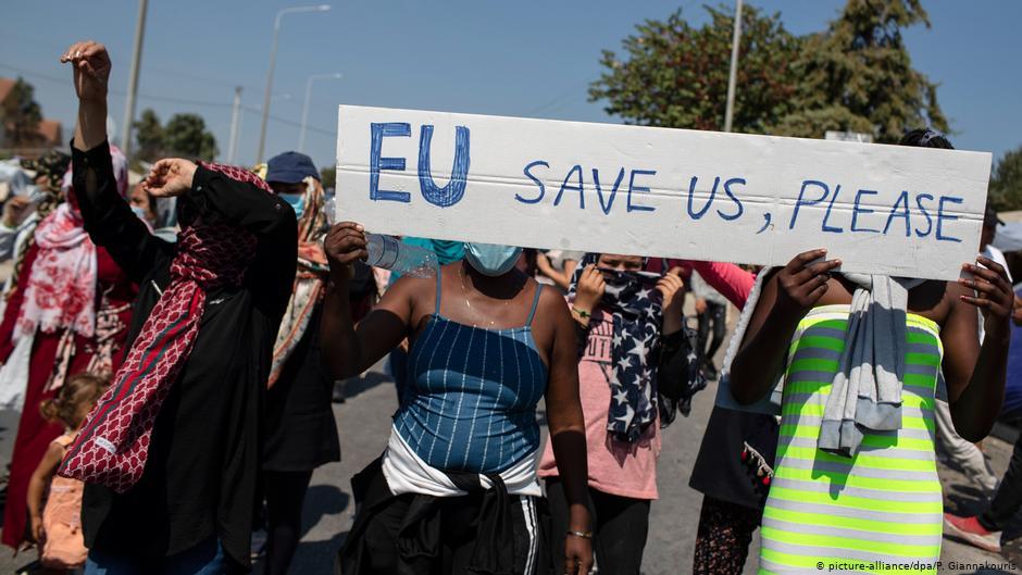 Λέσβος: Το προσφυγικό χάος και στο βάθος η ΕΕ | DW | 15.09.2020