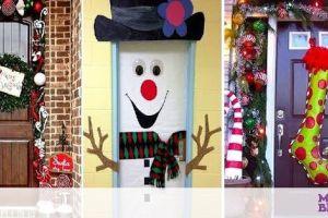 Χριστουγεννιάτικη διακόσμηση πόρτας: Τριάντα ιδέες για όλα τα γούστα (vid)