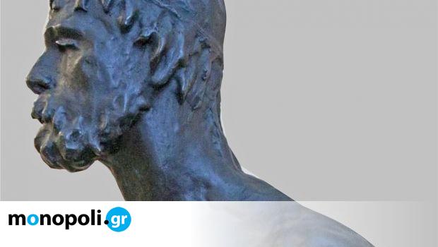 Οιδίποδας: Το γλυπτό του Δημήτρη Δήμου εκτίθεται στον αύλειο χώρο του Αρχαιολογικού Μουσείου Θηβών - Monopoli.gr