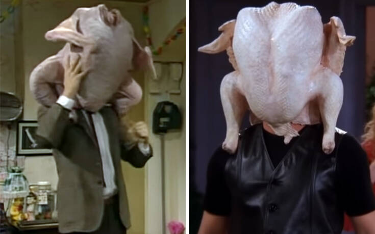 O Mr Bean κατηγορεί τα «Φιλαράκια» ότι του έκλεψαν το αστείο με τη γαλοπούλα