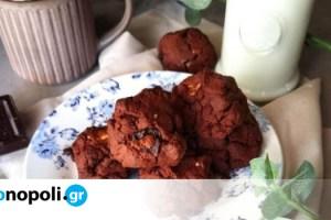 Cookies με κομματάκια σοκολάτας από την food blogger Nikis food - Monopoli.gr