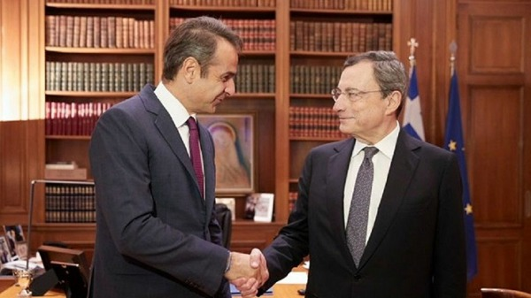 Ντράγκι: «Με τον πρωθυπουργό της Ελλάδας μιλήσαμε για δυνατότητες συνεργασίας»