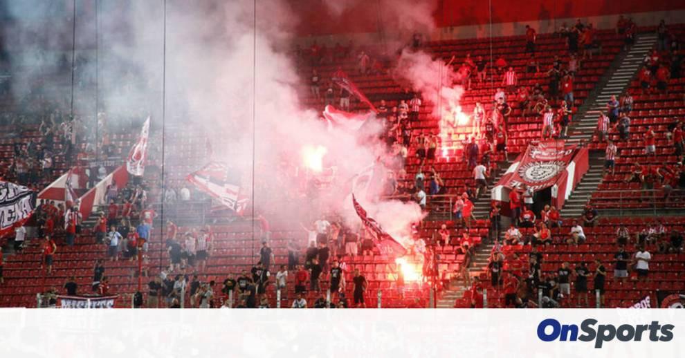 Ολυμπιακός-Νέφσι Μπακού: Ζωντάνεψε το γήπεδο – Οι οπαδοί στις εξέδρες! (photos)