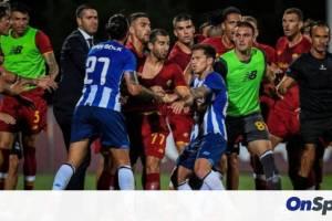 Χαμός με Πέπε, Μικιταριάν - Στα χέρια παίκτες της Πόρτο και της Ρόμα σε φιλικό! (video+photos)