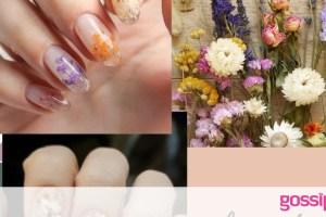 Αποξηραμένα λουλούδια στα νύχια: Πώς θα το κάνεις εύκολα