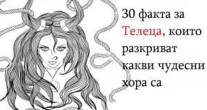 30 факта за Телеца