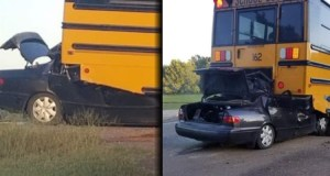 17-годишна се удря с колата си фатално в училищен автобус