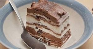 Торта без печене с мраморен ефект готова за 15 минути (хит рецепта)