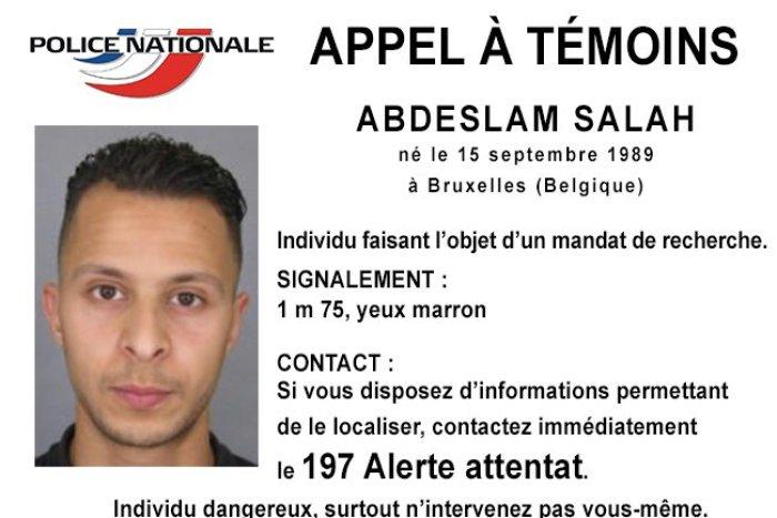 Efterlysningen fra Fransk Politi.