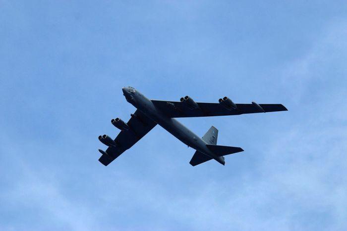 USA har sendt et langtrækkende B52 bombefly til Sydkorea. Arkivfoto: Denny Cantrell.