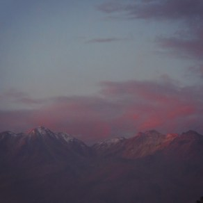Sunset over the Arequipa volcanoes