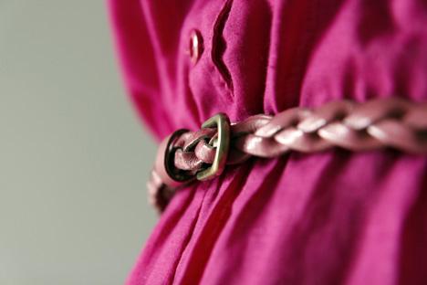 rosa-skinnbälte