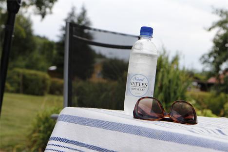 vatten och glas