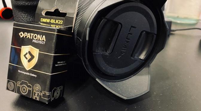Fremdakkus vom Typ        DMW BLK22 BLK22E für die Panasonic Lumix S5 & G9