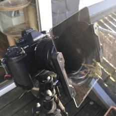 Der Adapter mit aufgesetztem Filterhalter und dem Nisi Verlaufsfilter