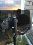 ... hier mit angesetztem Filterhalter und Nisi Verlaufsfilter