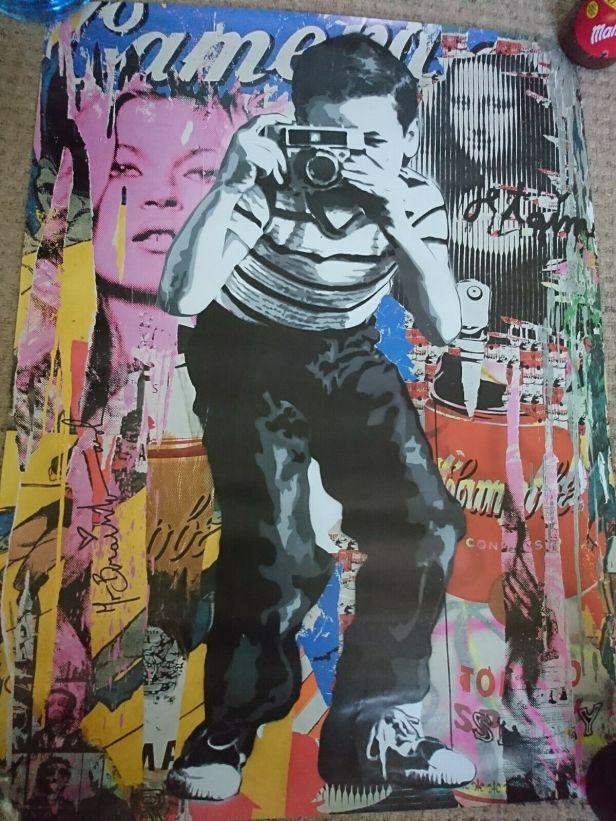 Mr Brainwash Polaroid boy