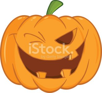 Vector illustration of cartoon death … Scary Halloween Pumpkin Winking Cartoon Illustration Vector Images