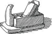 Carpenter Presenting and Using Tools stock vectors