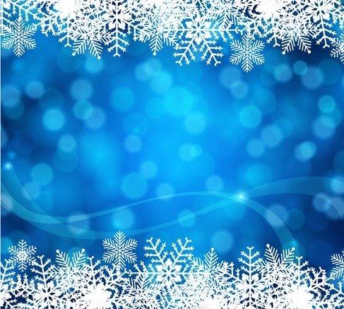 Blue Christmas Background Vector Art Vectors