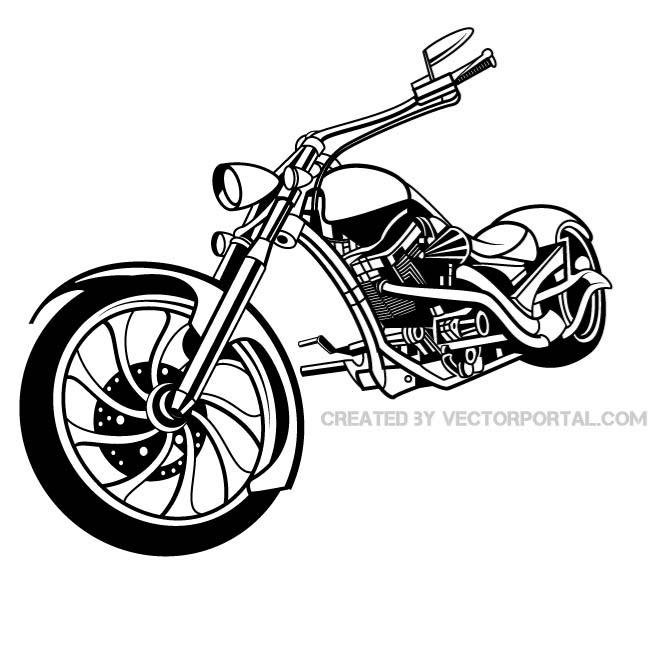 Free MOTORCYCLE VECTOR ILLUSTRATION.eps PSD files, vectors