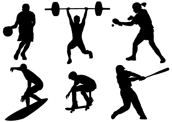 Free Sport Silhouettes Vector Free PSD files, vectors