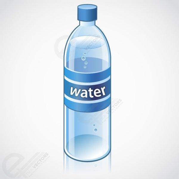free water bottle vector object