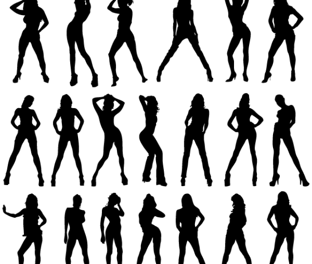 Free Sexy Girls Silhouettes Vector Image Free Psd Files Vectors Graphics 365psd Com