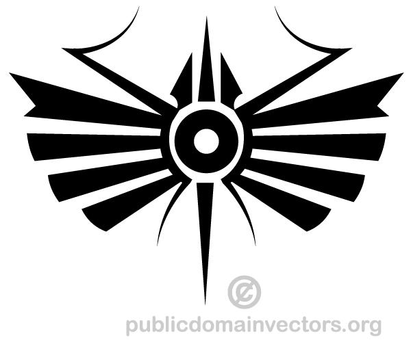 Wandtattoo Loft Tribal Zeichen Yin Yang Drache