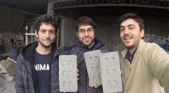Fabián Saieg, Leandro Lima y Leandro Míguez, los cordobeses creadores de Ecoinclusion