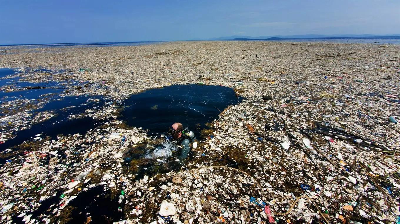 Mar de basura en el caribe. Foto: Caroline Power