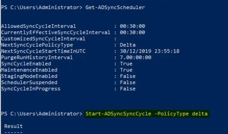 ADSyncSyncCycle Delta