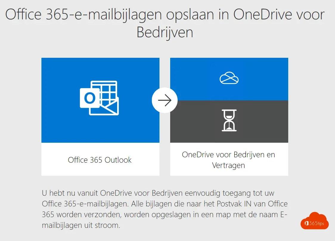 Sla al je e-mail bijlagen automatisch op in OneDrive