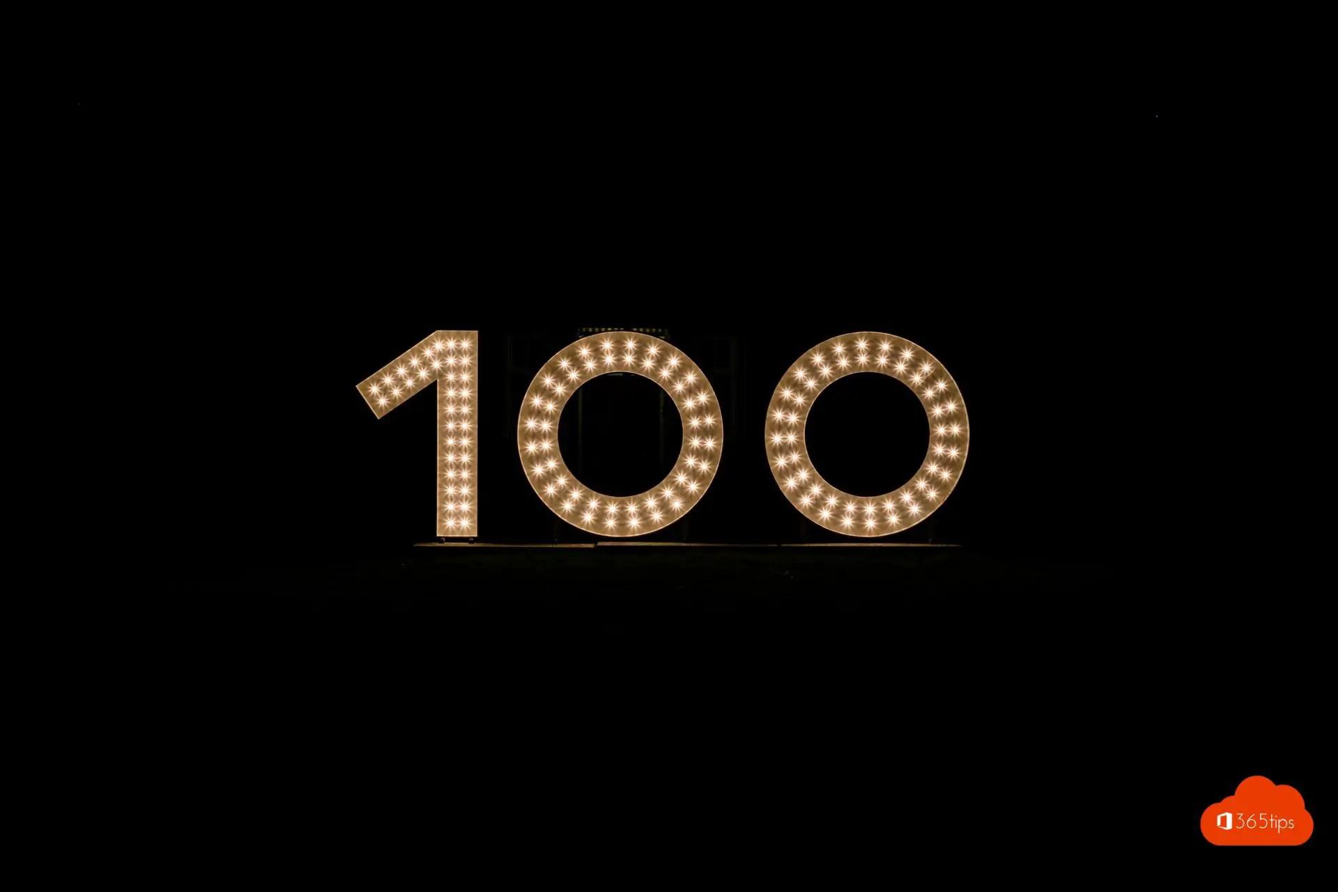 Blogpost 100 is een feit! Bedankt om te lezen!