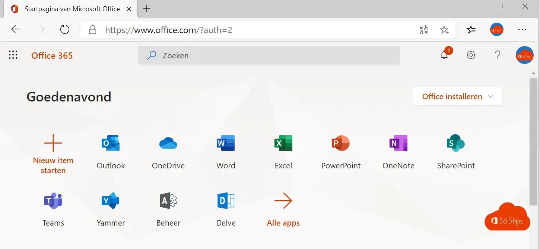 Hoe Office 365 opstarten?