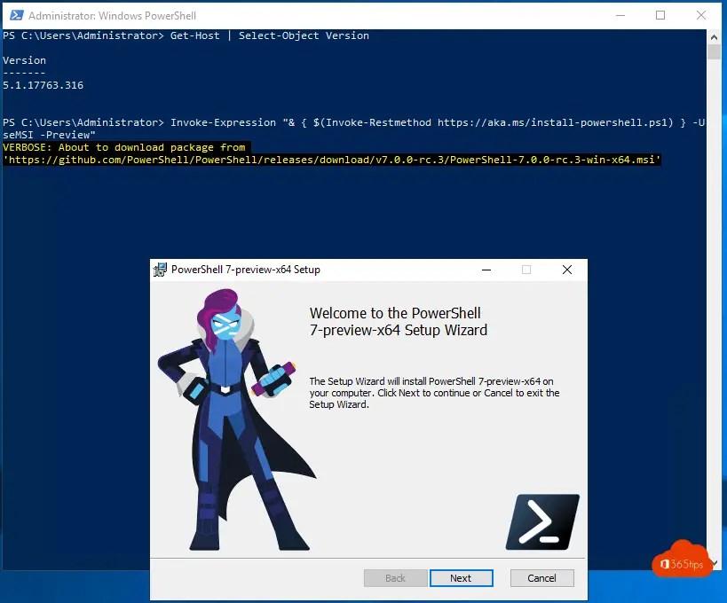 Hoe upgraden naar Powershell 7.0