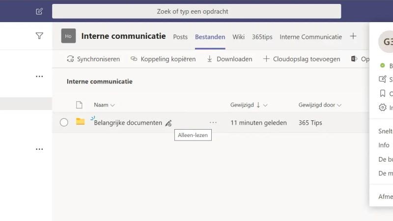 Microsoft Teams – Maak een alleen lezen folder zodat deelnemers je documenten niet kunnen aanpassen