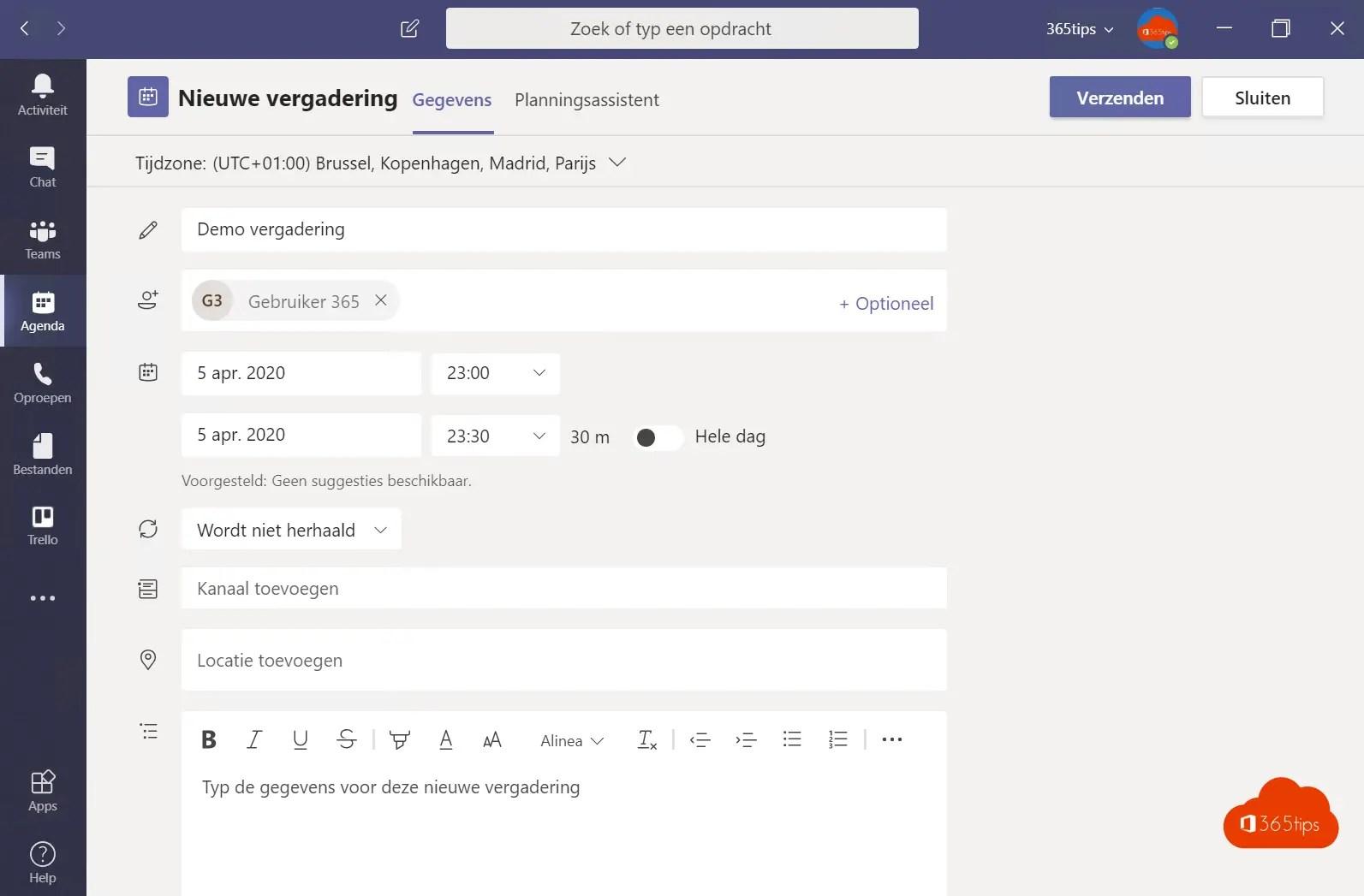 Voeg een distributielijst of Office 365 groep toe aan je Teams vergadering