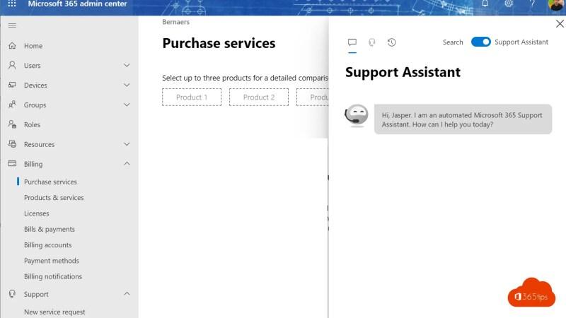 Microsoft Admin Center Portal