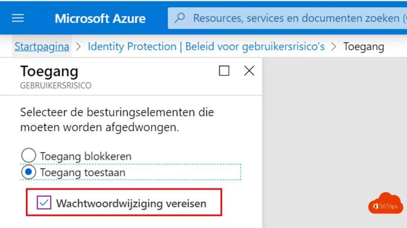 Microsoft Azure Beleid gebruikersrisico's