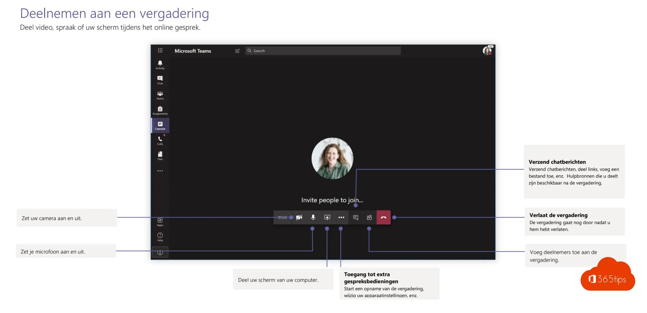 Hoe videobellen met Microsoft Teams?