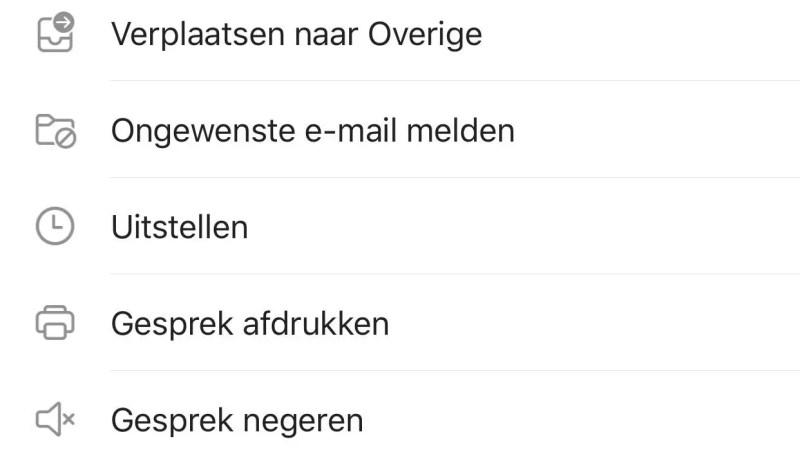 Spam melden op je smartphone met de vernieuwe Outlook App