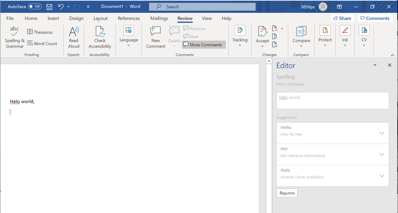 Microsoft Editor voor Word & Excel