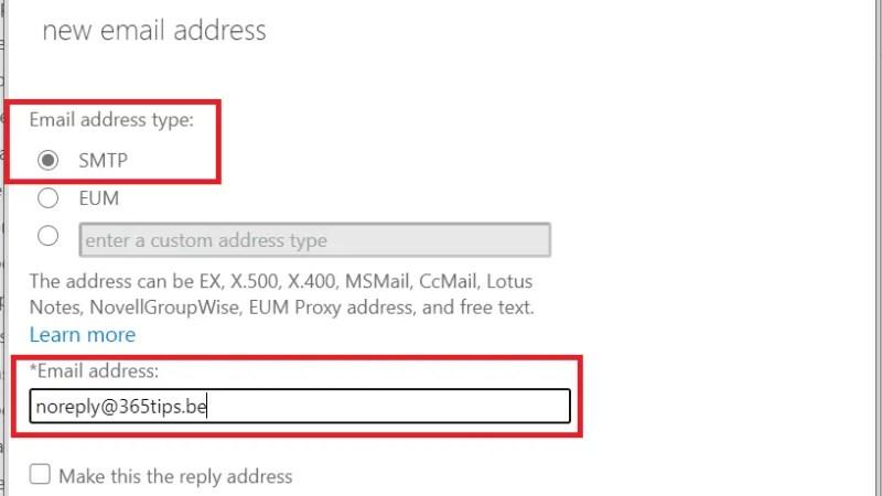 Een e-mail alias toevoegen in Office 365, Exchange of Active-Directory