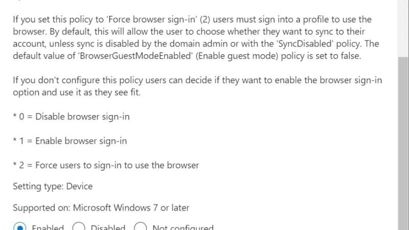 Configureer automatisch aanmelden + synchroniseren in Edge met intune