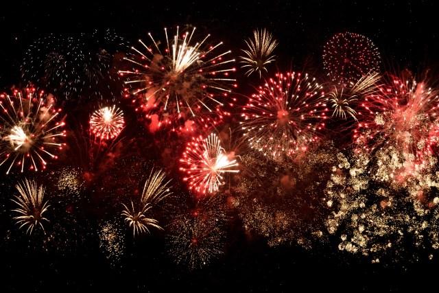 vuurwerk lichtshow eindejaar