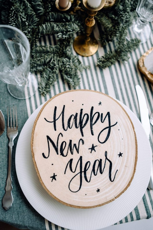 happy new year taart