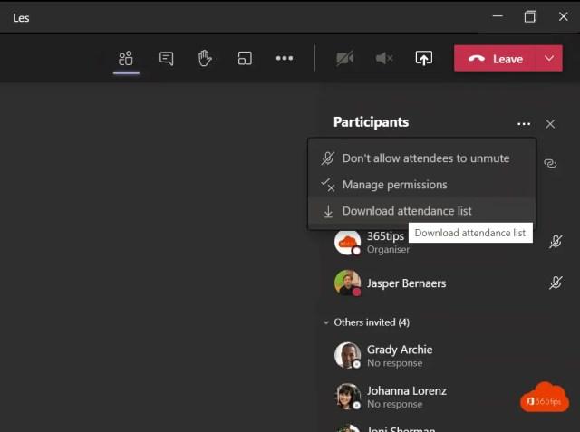 Aanwezigheden (opkomst) bijhouden in Microsoft Teams 💻