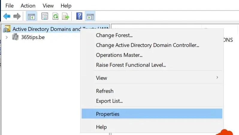 Een Active Directory (AD) domein toevoegen – Domains and Trusts